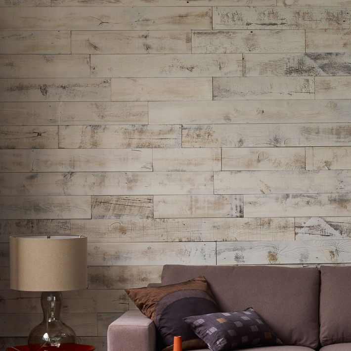 Covering Wall Paneling : Six by eight diy adhesive wood paneling