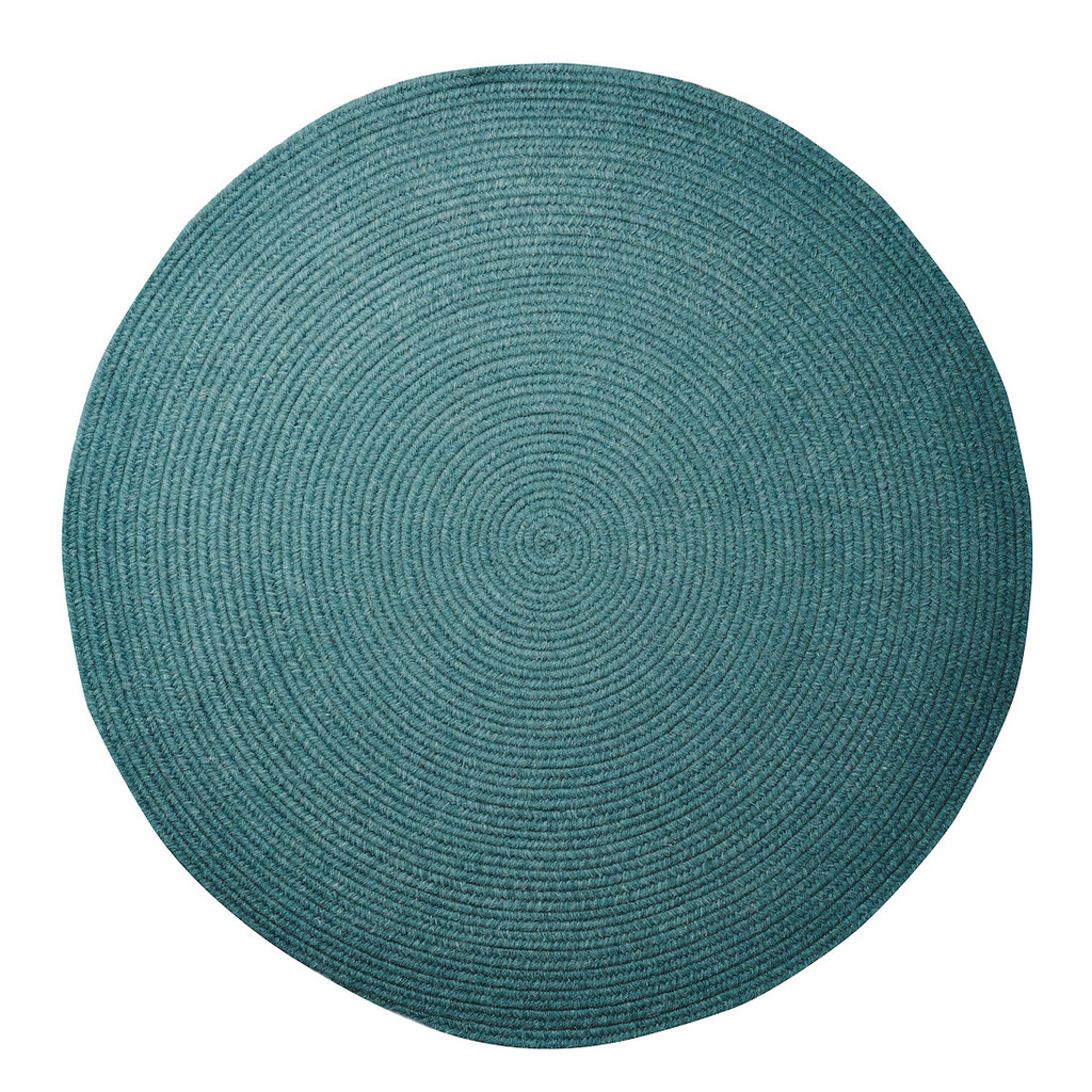 Teal Round Rug Roselawnlutheran