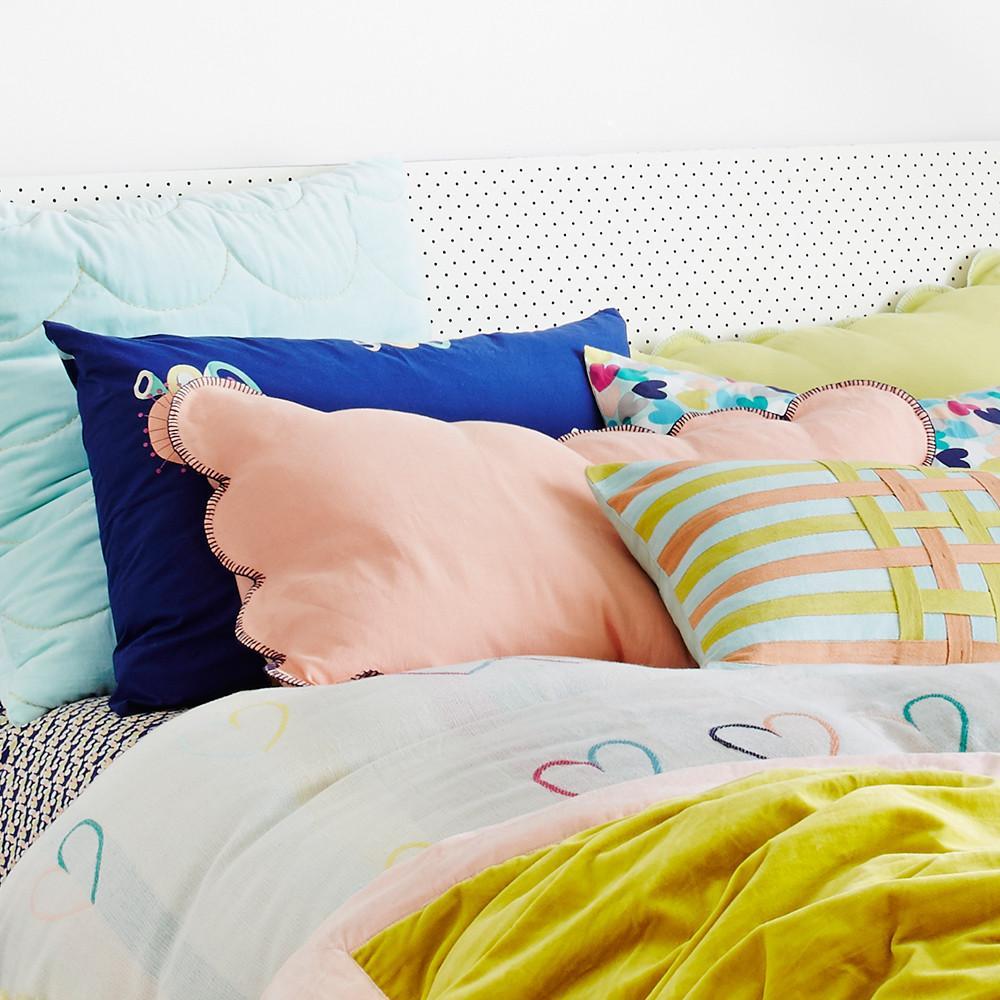 Scalloped Coral Pillowcase